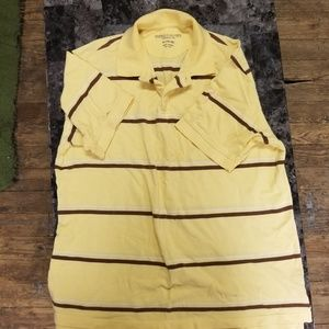 Yellow faded glory golf shirt